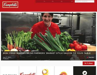 campbellsoupcompany.com screenshot