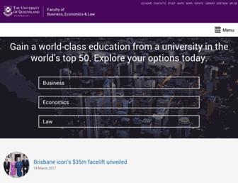 bel.uq.edu.au screenshot
