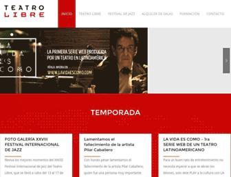 teatrolibre.com screenshot
