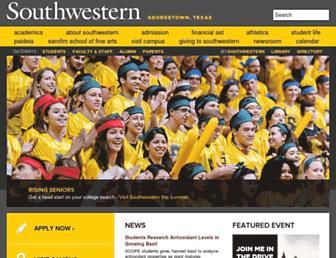 Main page screenshot of southwestern.edu