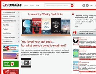 Thumbshot of Lovereading.co.uk