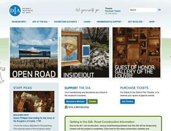 Main page screenshot of dia.org