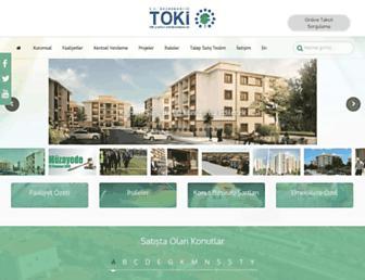 Main page screenshot of toki.gov.tr