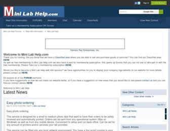 minilabhelp.com screenshot
