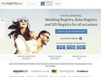 myregistry.com screenshot