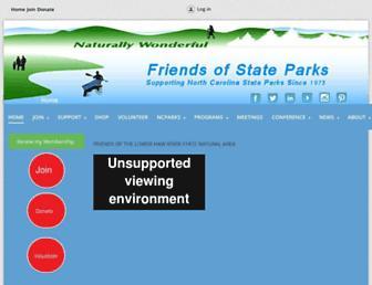 Main page screenshot of ncfsp.org