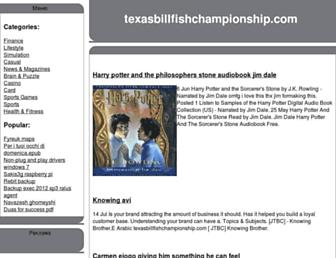 texasbillfishchampionship.com screenshot