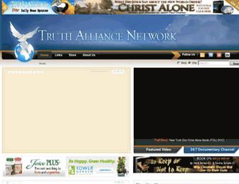 Main page screenshot of truthalliance.net