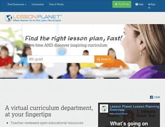 lessonplanet.com screenshot
