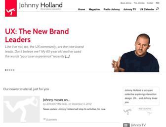Main page screenshot of johnnyholland.org