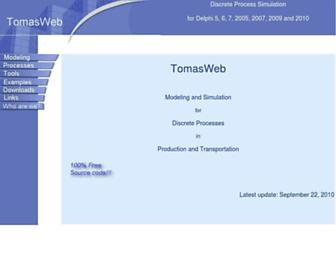 tomasweb.com screenshot
