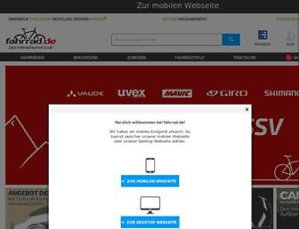 Main page screenshot of fahrrad.de