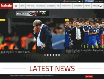 fourfourtwo.com screenshot