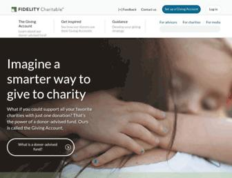 Main page screenshot of charitablegift.org