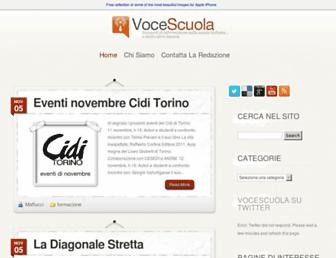 Main page screenshot of vocescuola.it
