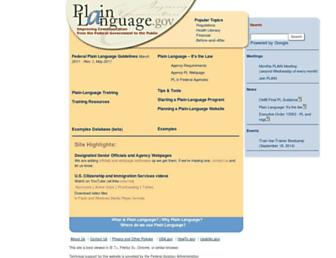plainlanguage.gov screenshot
