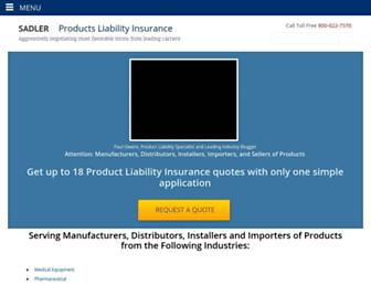 products-liability-insurance.com screenshot