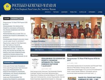 Main page screenshot of poltekkes-mataram.ac.id