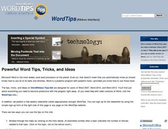wordribbon.tips.net screenshot