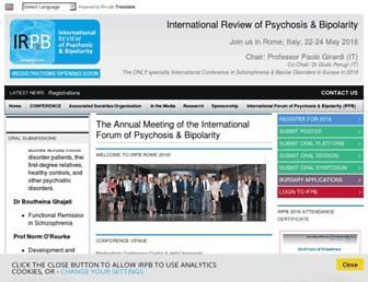 Main page screenshot of irpb.info