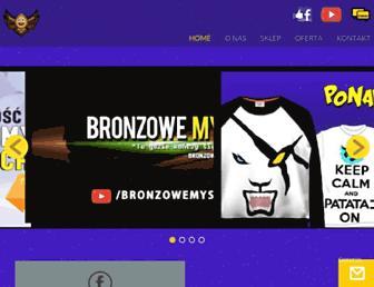 bronzowemysli.com screenshot