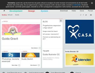 Main page screenshot of grafica.html.it