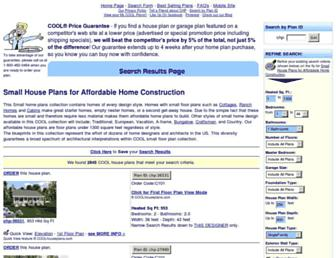 small.coolhouseplans.com screenshot