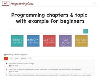 programming-code.com screenshot