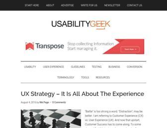 usabilitygeek.com screenshot