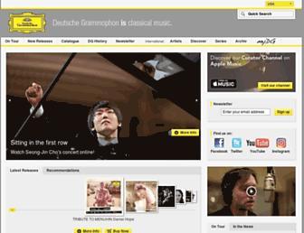 deutschegrammophon.com screenshot