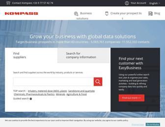 lk.kompass.com screenshot