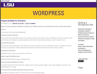 sites01.lsu.edu screenshot