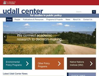 udallcenter.arizona.edu screenshot