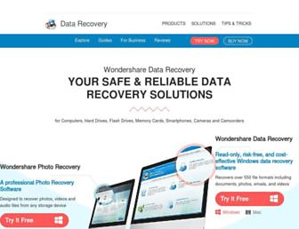 datarecovery.wondershare.com screenshot