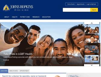 Thumbshot of Hopkinsmedicine.org