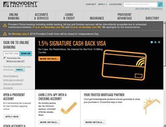 Thumbshot of Providentcu.org