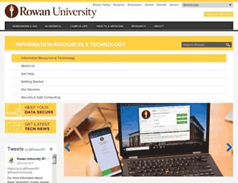 irt.rowan.edu screenshot