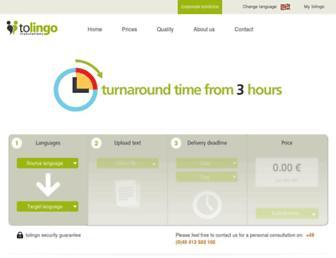 tolingo.com screenshot