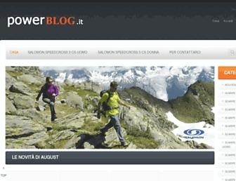Main page screenshot of powerblog.it