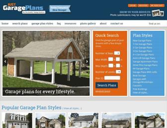 justgarageplans.com screenshot