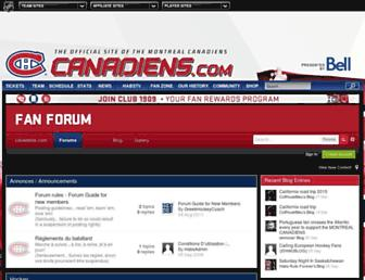 fans.canadiens.nhl.com screenshot