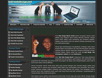 bali-webdesign.net screenshot