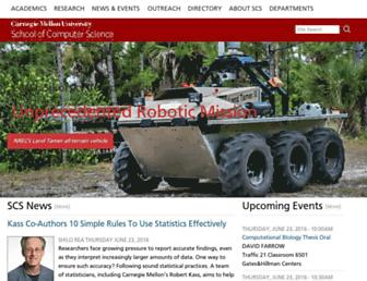 Main page screenshot of cs.cmu.edu