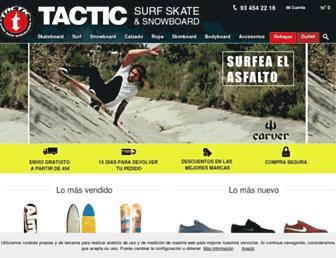 tacticsurf.es screenshot