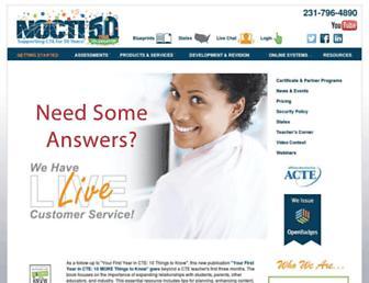 Main page screenshot of nocti.org