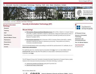 sit.informatik.tu-darmstadt.de screenshot