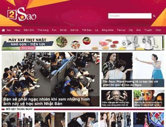 Main page screenshot of 2sao.vn