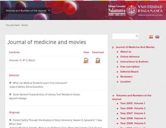 revistamedicinacine.usal.es screenshot