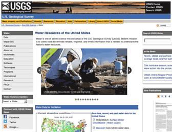 water.usgs.gov screenshot