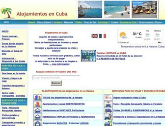 alojamientosencuba.com screenshot